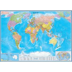 Карта мира политическая настенная Атлас Принт 1:17 млн