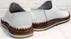 Летние мужские туфли слипоны натуральная кожа smart casual для мужчин Luciano Bellini 91724-S-304 All White.