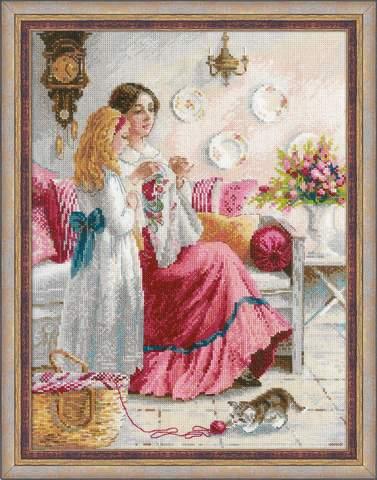 Набор для вышивания крестом «Уроки вышивки» (1789)