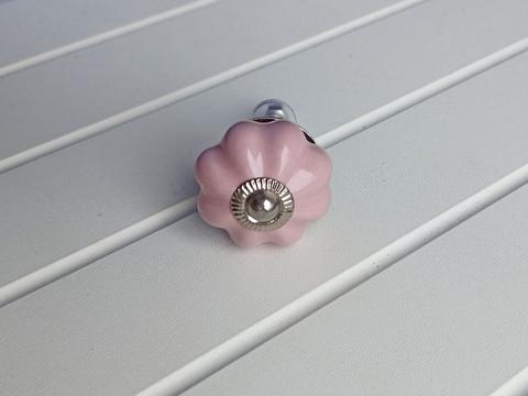 Ручка мебельная керамическая розовая, арт. 00001054
