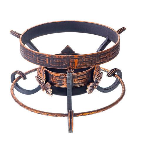 Кованая подставка садж шёлковый путь декор с кольцом