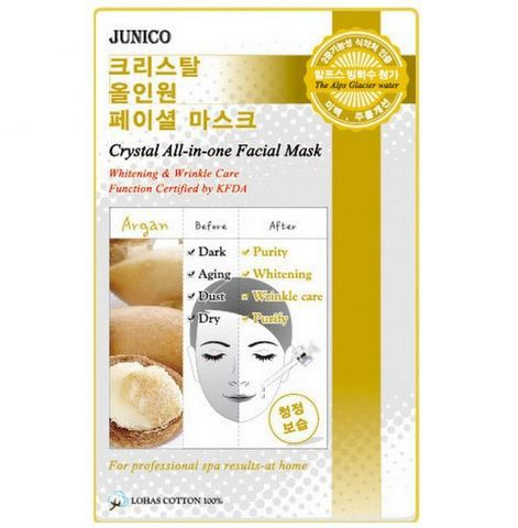 MIJIN Junico Crystal Маска тканевая c аргановым маслом Junico Crystal All-in-one Facial Mask Argan