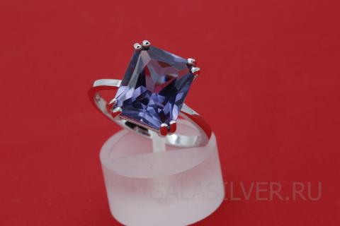 Кольцо с александритом  из серебра 925