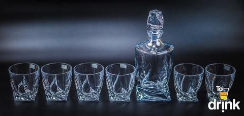 Набор для виски 7 предметов Quadro