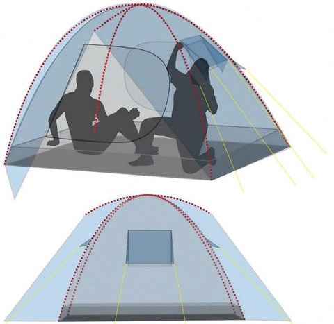Палатка Canadian Camper IMPALA 3, цвет forest