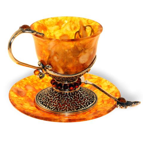Чашка кофейная из янтаря «Петр»