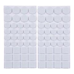 Протекторы защитные из фетра белые, в ассортименте, 20мм, 27мм, 24*24мм