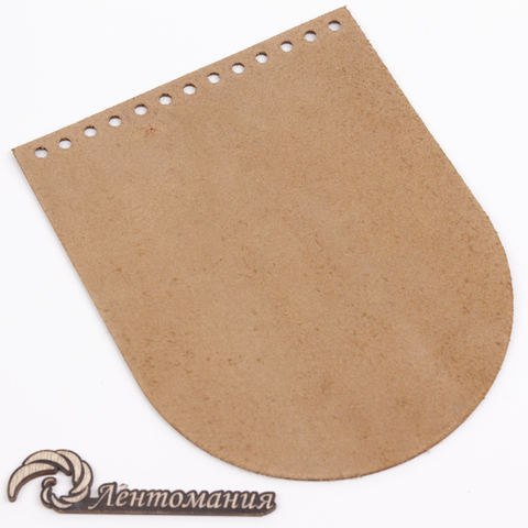 """Клапан для сумочки кожаный """"Коньяк"""" 15,5*19,5 см"""