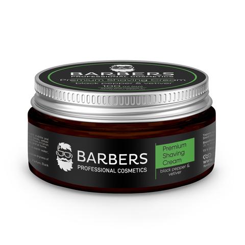 Крем для гоління з тонізуючим ефектом Barbers Black Pepper-Vetiver 100 мл (1)