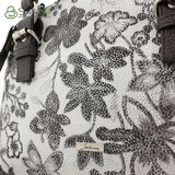 Сумка Саломея 457 цветы серебро