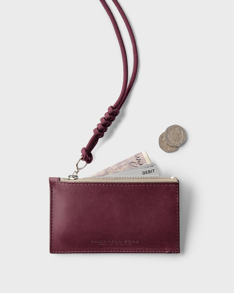 Campbell Cole Simple Coin Pouch Burgundy