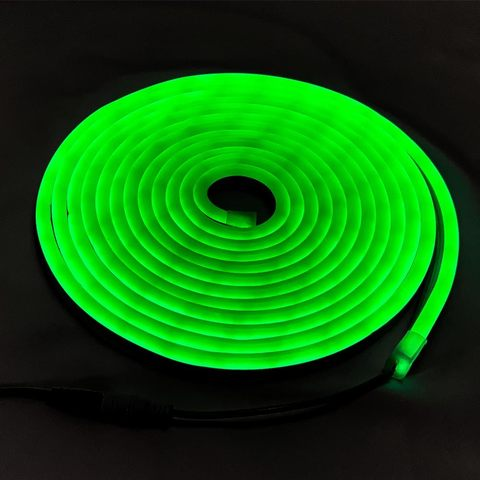 Гибкий LED-неон Зеленый SMD 2835 120 led/м 9.6 Вт 8х16мм 5 метров
