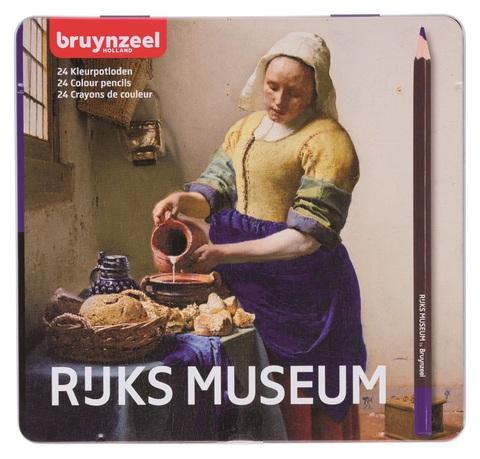 Набор цветных карандашей Rijksmuseum 'Молочница' Вермеер 24 цвета в металлической упаковке