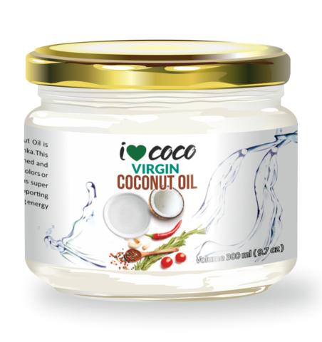 Масло кокосовое холодного отжима ILOVECOCO, органическое, 300 мл