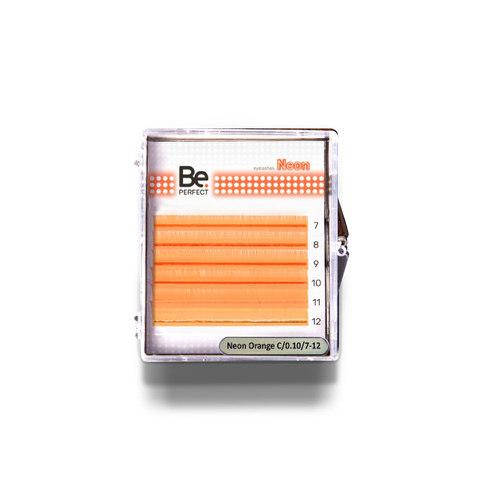 Цветные ресницы Be Perfect Neon Orange MIX 6 линий