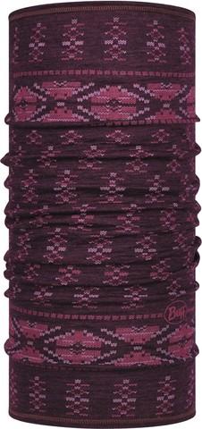 Тонкий шерстяной шарф-труба Buff Wool lightweight Frieze Deep Purple фото 1