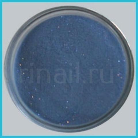 Цветная акриловая пудра  Глиттерная синяя