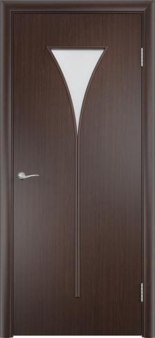 Дверь Сибирь Профиль Рюмка (С-4), цвет венге 3D, остекленная