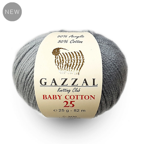 GAZZAL BABY COTTON 25 ( 50% Хлопок, 50% Полиакрил, 25гр/82м)
