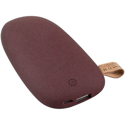Stone Power Bank 5200 mAh, dark red