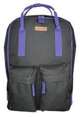 Рюкзак Silwerhof Cube, черный/фиолетовый, 26х7,5х36,5 см, 7 л