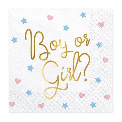 Салфетки Boy or Girl? белая, 20 штук