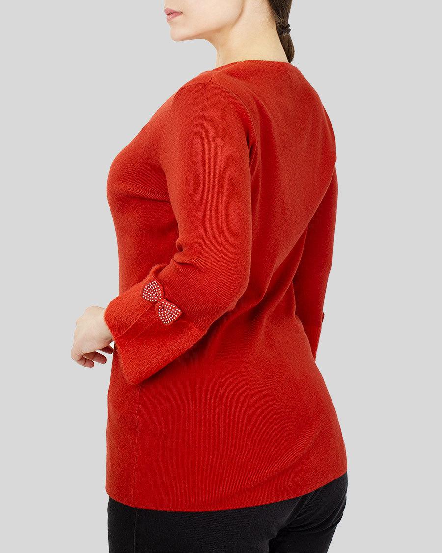 Кофта женская рукав с мехом