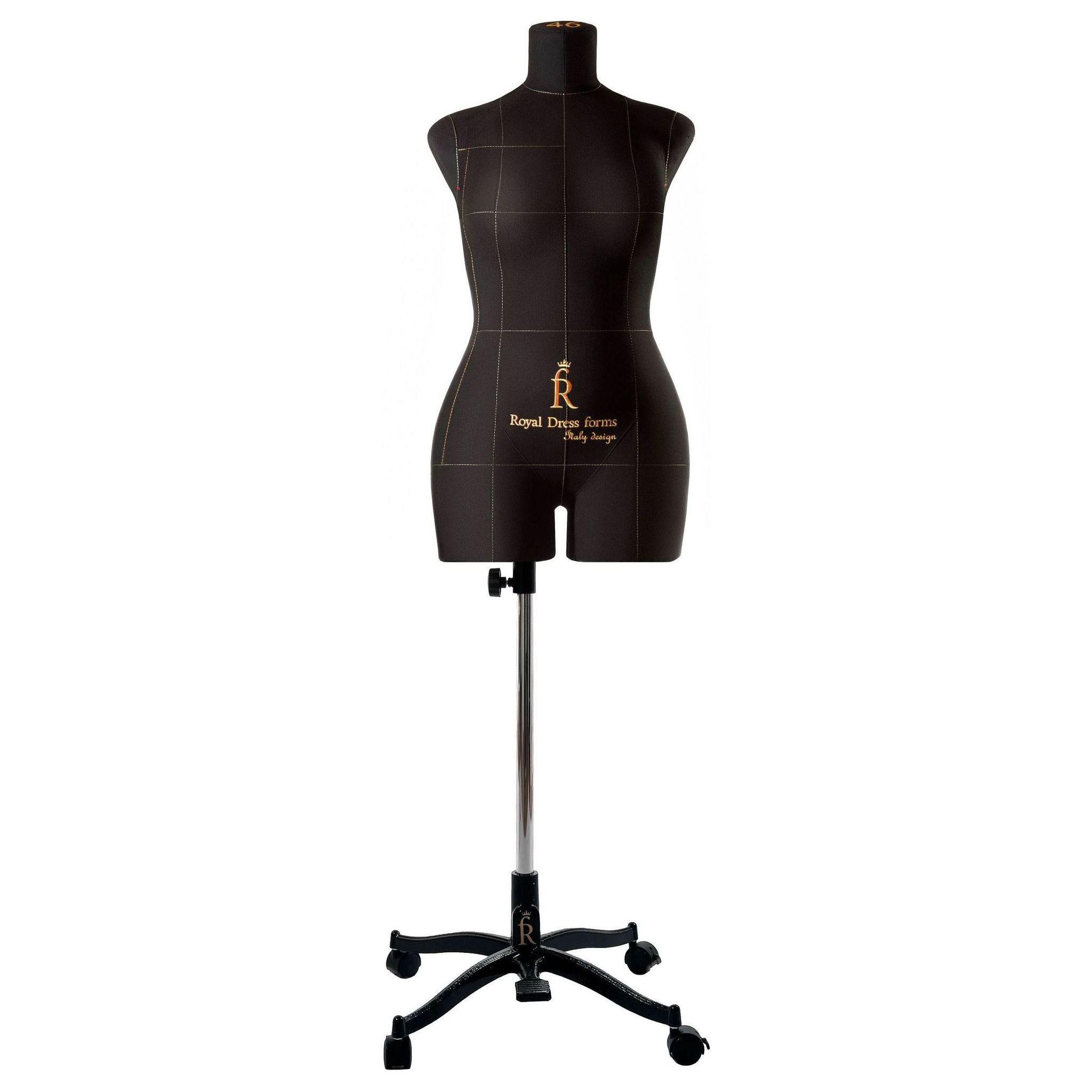 Манекен портновский Моника, комплект Про, размер 46, ЧерныйФото 2