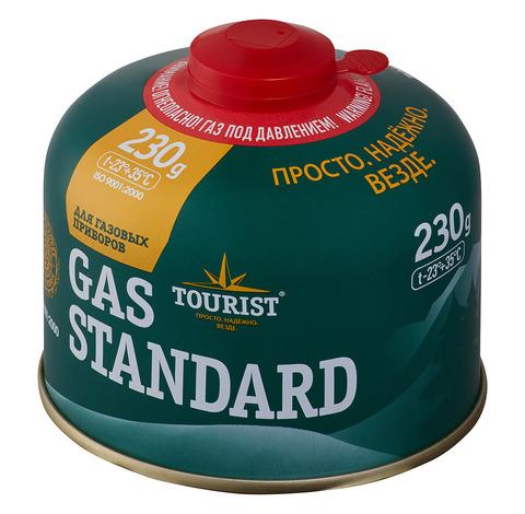 Газ баллон GAS STANDARD (TBR-230) для портативных приборов - резьбовой, «Tourist»