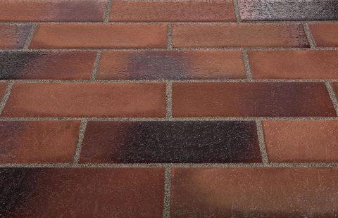 Stroeher, Spaltklinker, braun-blau, цвет 124, 240x115x18 - Клинкерная тротуарная брусчатка