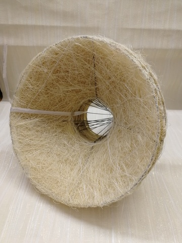 Каркас для букета гладкий (сизаль, диаметр: 15 см) Цвет: кремовый