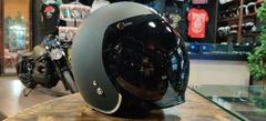Визор бабл-bubble на мотошлем, чёрный/тонированный