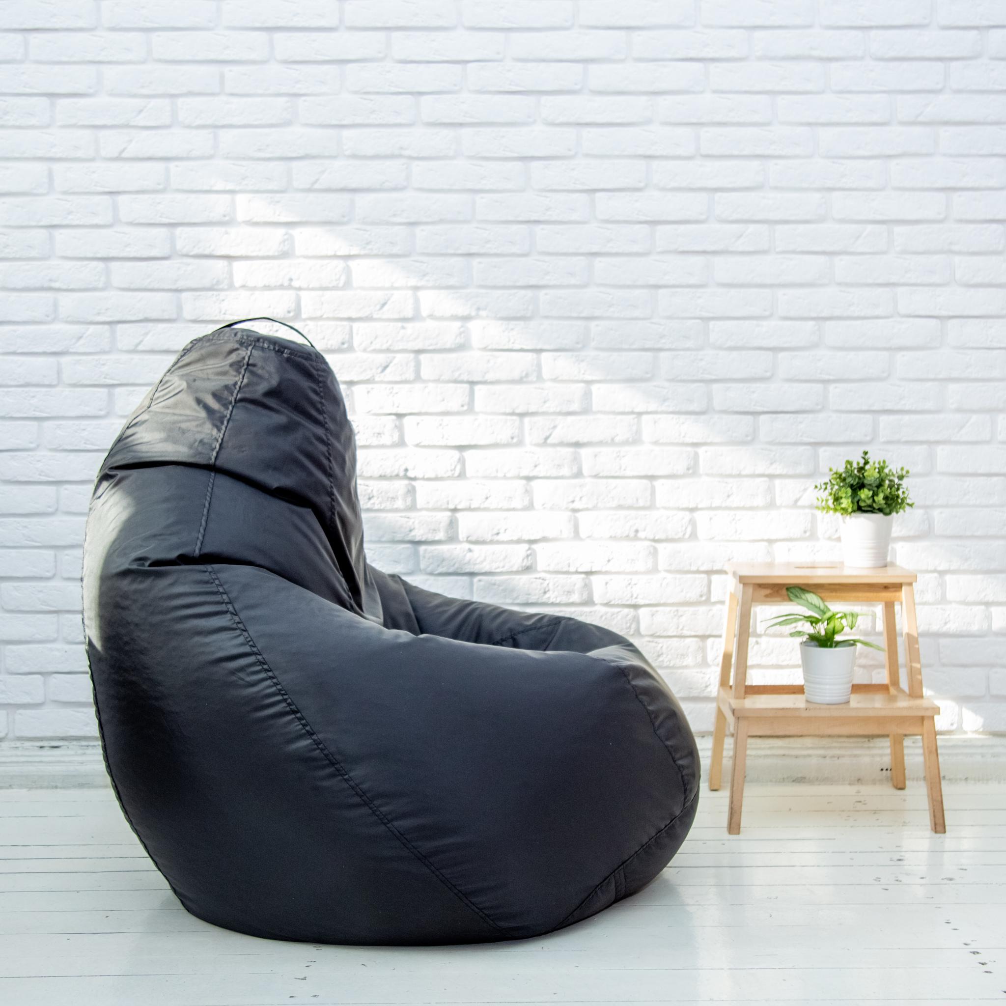 Груша XL плащёвка, несъёмный чехол (чёрная)