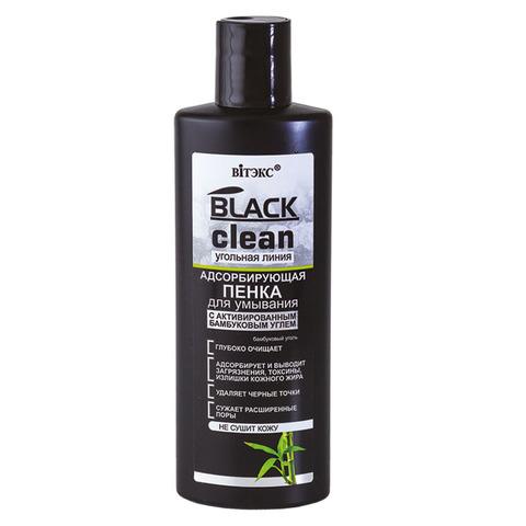 Витекс BLACK CLEAN Пенка для умывания адсорбирующая с активированным бамбуковым углём 200мл