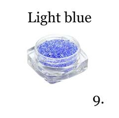 Хрустальная крошка(мелкая) голубая 9