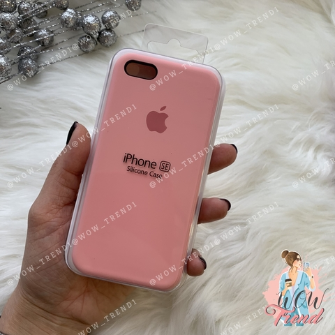 Чехол iPhone 5/5s/SE Silicone Case /pink/ пудра 1:1