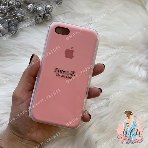 Чехол iPhone 5/5s/SE Silicone Case /pink/ пудра 1:1