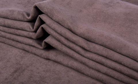 Штора готовая однотонная из портьерной ткани | цвет: розовато-лиловый | размер на выбор