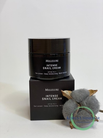 Millelure Крем для лица с экстрактом муцина улитки - Intense snail cream, 100мл
