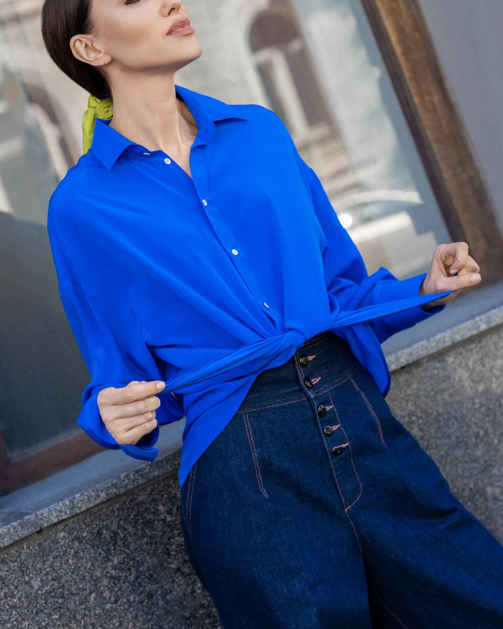 Шёлковая рубашка из капсульной коллекции VintageDream &  LA NEIGE Collection