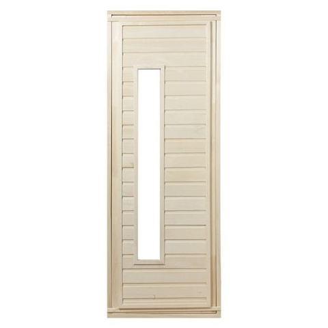 Дверь со стеклом из липы