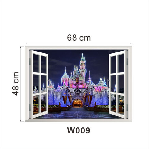 Wall Sticker Wallpaper 3D Art — Princess Castle