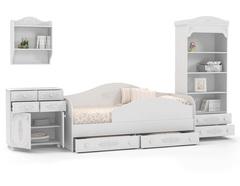 Набор Ассоль комод и стеллаж с кроватью