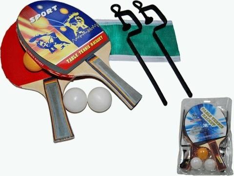 Набор для нт (2 ракетки + 3 шарика +сетка со стойками). :(168):