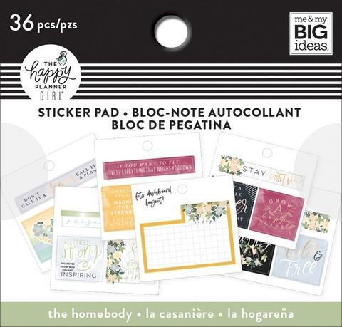Блокнот со стикерами для ежедневника Happy Planner Tiny Stickers Pad - Homebody- 36 шт
