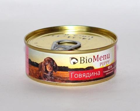BioMenu PUPPY Консервы д/ЩЕНКОВ Говядина 95%-МЯСО 100гр*24