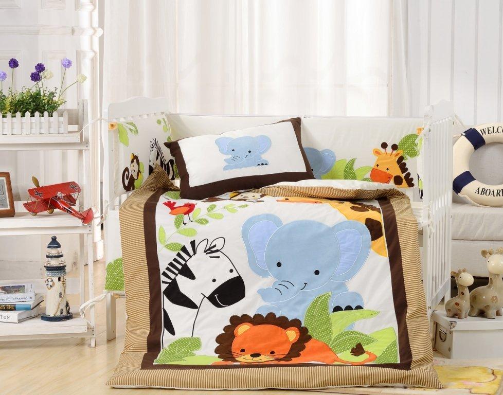 Постельное белье  в детскую кроватку Комплект постельного белья  в кроватку с бортиком ТМ Вальтери Россия DK-25 dk-25.jpg