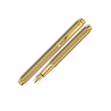 Перьевая ручка Carandache Ecridor Chevron gilded (F) латунь позолота перо сталь (958.198)