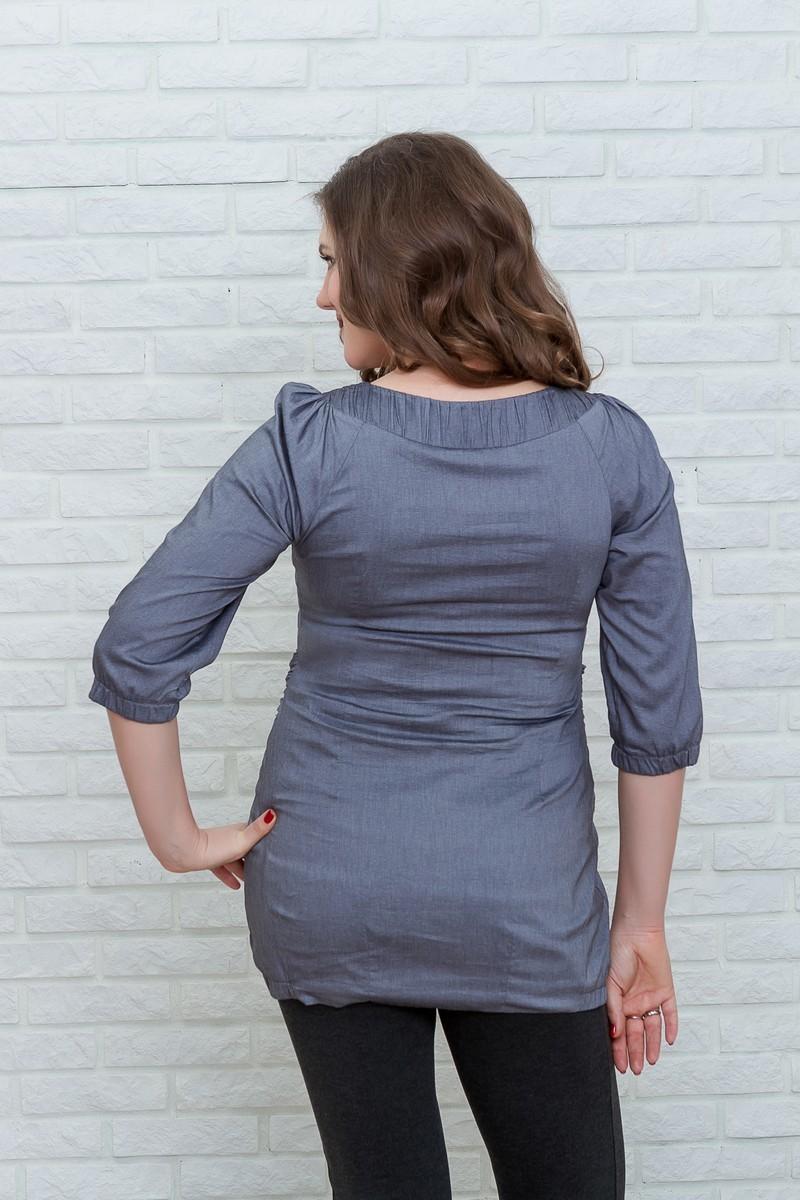 Туника для беременных 07155 серый