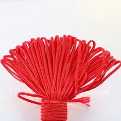 Сутаж, 3х1 мм, цвет - красный, примерно 1 м
